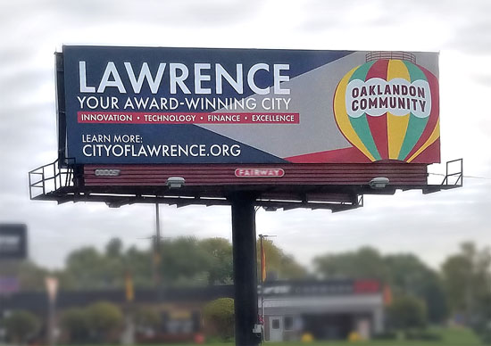 Lawrence / Oaklandon Billboard